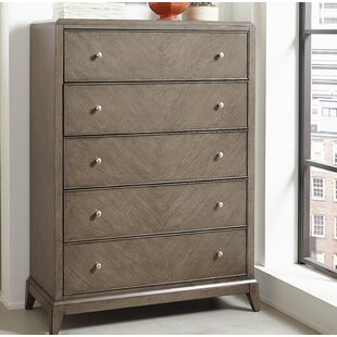 Ophelia & Co. Whicker 5 Drawer Chest