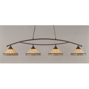Essonnes 4-Light Bronze Billiard Light by Loon Peak