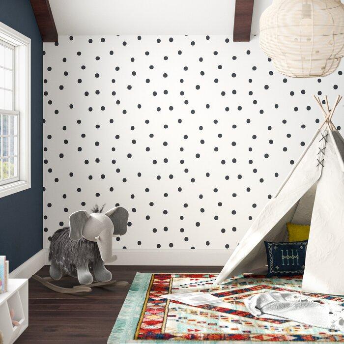 Akil Polka Dot 16 5 L X 20 W Smooth And Stick Wallpaper Roll