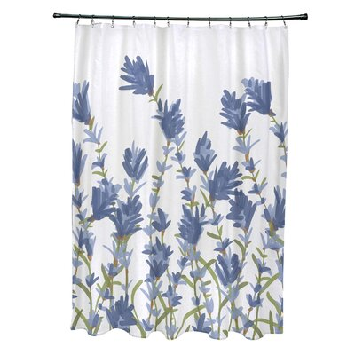 Alcott Hill Orchard Lane Polyester Lavender Floral Single Shower Curtain