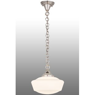 Moshier 1-Light Schoolhouse Pendant by August Grove
