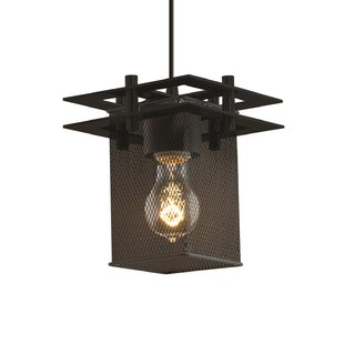 Bennett 1-Light Square/Rectangle Pendant by 17 Stories