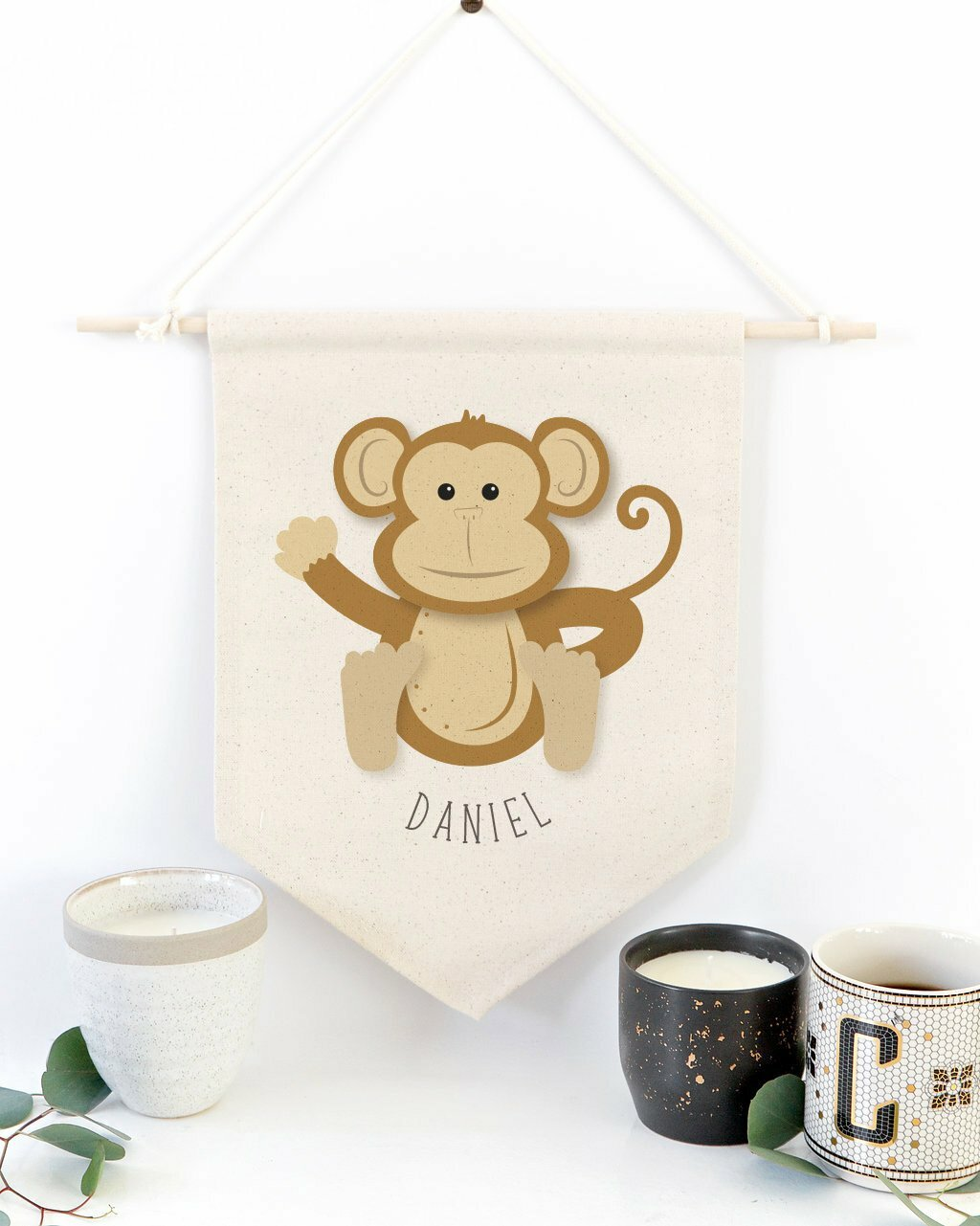 Harriet Bee Neron Monkey Personalized Banners Wayfair
