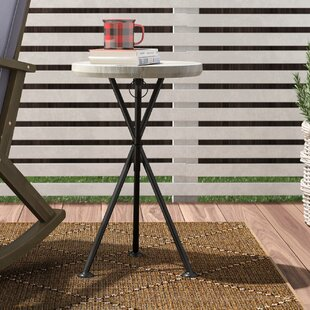 Marler Folding Wooden Side Table
