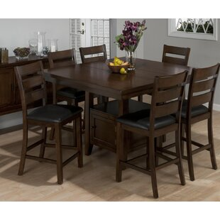 Anton Wooden 7 Piece Pub Table Set