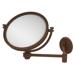 Allied Brass Extend 2X Magnification Wall Mirror with Groovy Detail