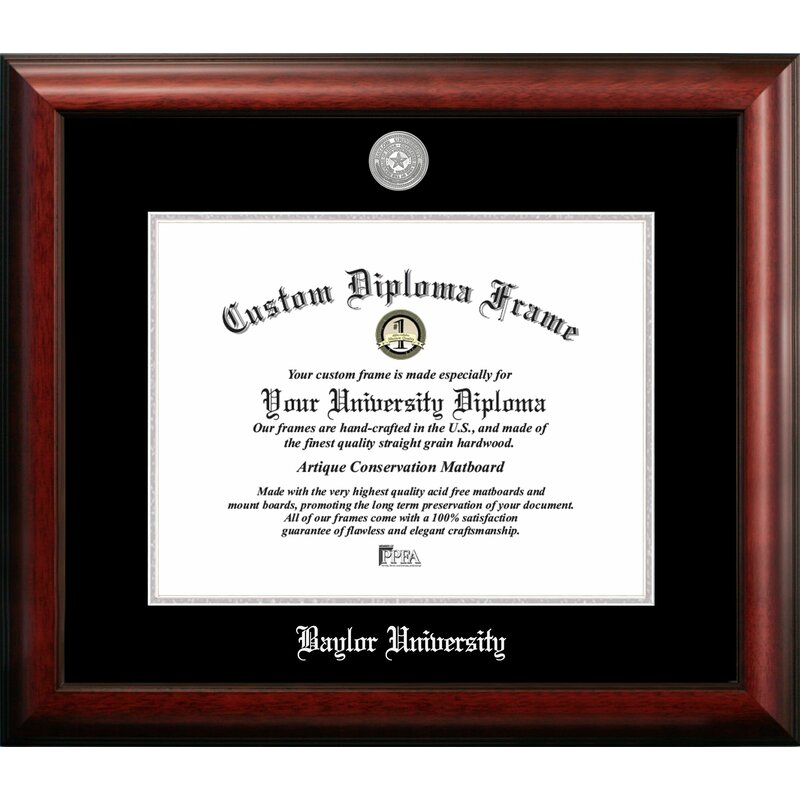 Campus Images Baylor University Embossed Diploma Picture Frame Wayfair