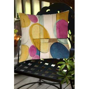 Square Geometric Indoor/Outdoor Throw Pillow