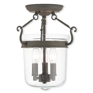 Acton 3-Light Semi Flush Mount by Darby Home Co