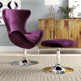 Kirree Balloon Chair and Ottoman by Willa Arlo Interiors