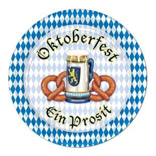 Oktoberfest Paper Appetizer Plates
