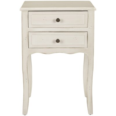 Philipston 2 Drawer Nightstand Color: Antique White by Andover Mills