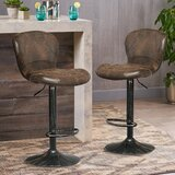 Massa Swivel Adjustable Height Stool (Set of 2) by Williston Forge