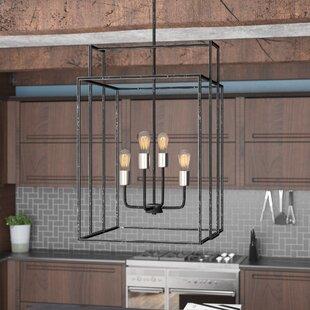 Trent Austin Design Jefferson 4-Light Square/Rectangle Chandelier