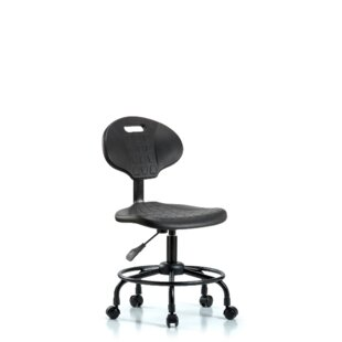 Symple Stuff Ottilie Round Tube Base Desk Height Ergonomic Office Chair