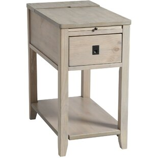 Seville Chairside Table in Driftwood