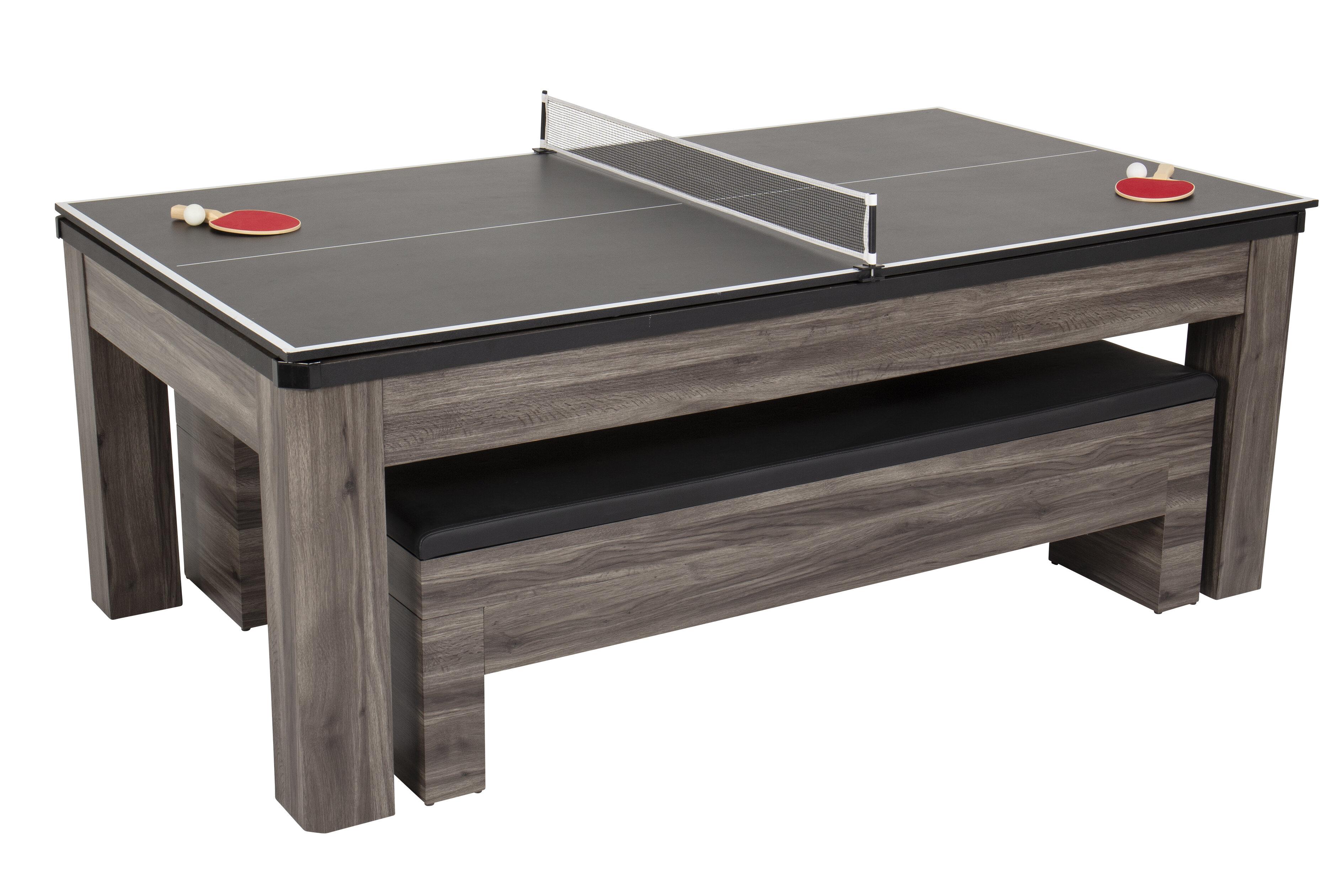 Atomic Hampton 7 3 In 1 Pool Dining And Table Tennis Table Reviews Wayfair