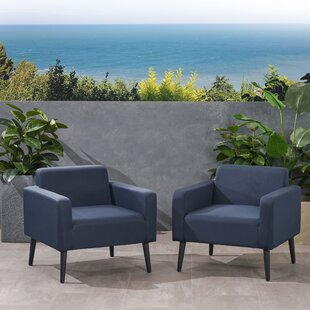 Rosalinda Patio Chair With Cushions (Set Of 2) by Corrigan Studio #1
