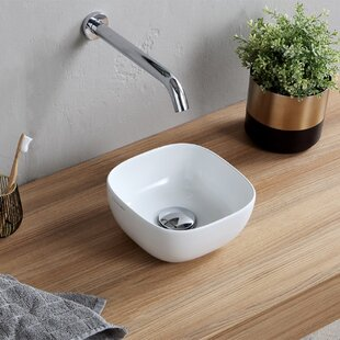 Best Choices Specialty Ceramic Vessel Bathroom Sink with Overflow ByScarabeo by Nameeks