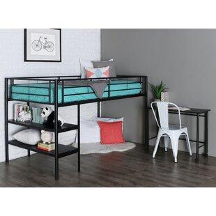 Aglandjia Twin Low Loft Bed with Bookcase by Mack & Milo