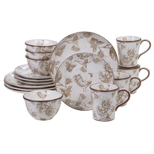 Willis Rooster 16 Piece Dinnerware Set, Service for 4