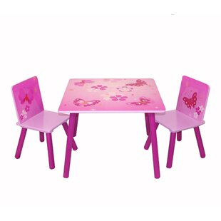 Lenny Children's 3 Piece Square Table and Chair Set by Zoomie Kids