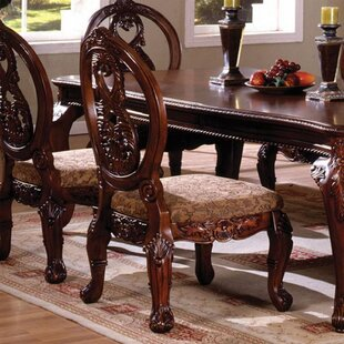 Chapin Upholstered Side Chair in Brown Set of 2 by Astoria Grand