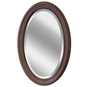 Millstadt Wood Oval Bathroom/Vanity Wall Mirror