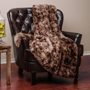 Trio Super Soft Fuzzy Faux Fur Throw Blanket