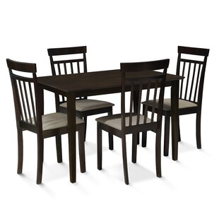 Roznin 5 Piece Dining Set Red Barrel Studio