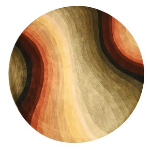 Find a Handler Contemporary Abstract Hand-Tufted Wool Multi-colored Area Rug By Latitude Run