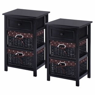 Lusk 1 Drawer Nightstand (Set Of 2) by Alcott Hill 2019 Sale