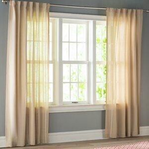 Ocheltree Solid Semi-Sheer Rod Pocket Curtain Panels (Set of 2)