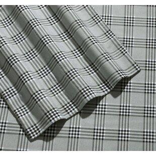 Jenise Savannah Plaid 170-GSM Printed Flannel Extra Deep Pocket 100% Cotton Sheet Set