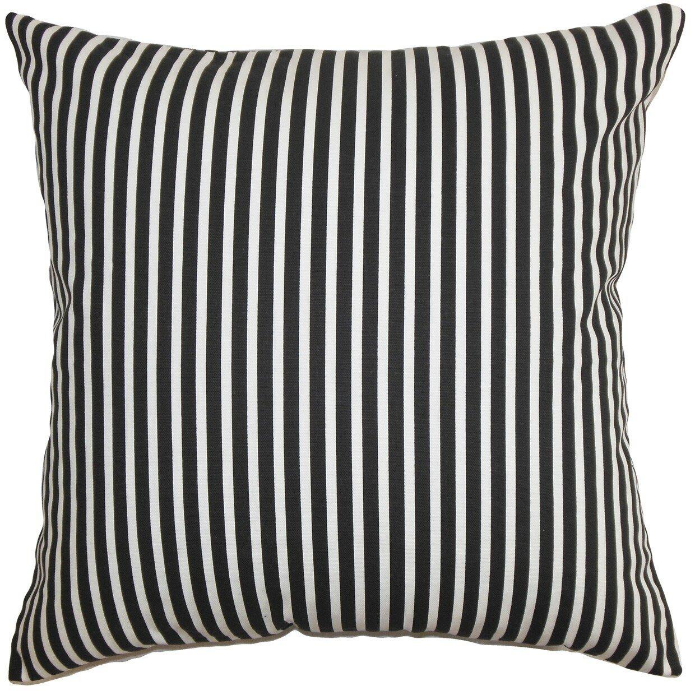 The Pillow Collection Elvy Stripes Cotton Throw Pillow Cover Wayfair
