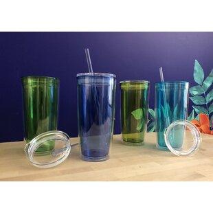 Haledon BPA Free 20 oz. Plastic Travel Tumblers (Set of 4) ByHighland Dunes