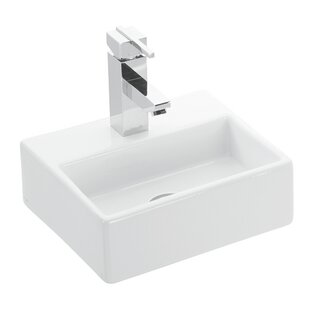 WS Bath Collections Quattro Ceramic Ceramic Rectangular Vessel Bathroom Sink