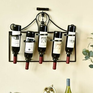 5 Bottle Wall Mounted Wine Rack by Wellan..