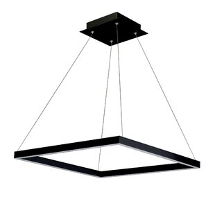 Wade Logan Armaz 1-Light LED Square Chandelier