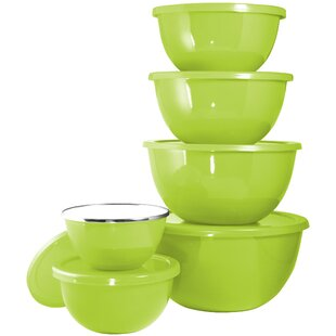 Calypso Basic 12 Piece Stainless Steel/Plastic Mixing Bowl Set