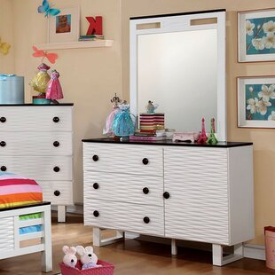 Kimmel 3 Drawer Combo Dresser with Mirror