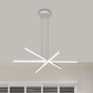 Northgate 3-Light LED Geometric Chandelier by Orren Ellis