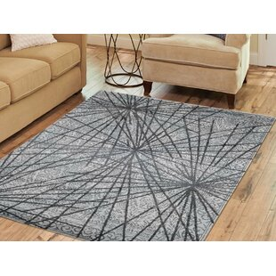 Price comparison One-of-a-Kind Humble Hand-Knotted 5'6 x 7'9 Wool/Silk Gray/White Area Rug By Isabelline