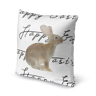 The Brown Easter Bunny Throw Pillow