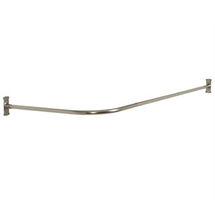 Never Rust 66 L-Shaped Fixed Shower Curtain Rod Versalot