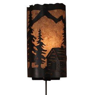 Best Reviews Giselle Cabin Panel 1-Light Flush Mount By Loon Peak