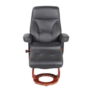 Moree Leather Manual Recliner with Ottoman