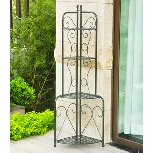 Three Posts Snowberry Iron Baker's Rack