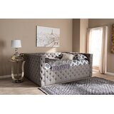 Pendergrass Deep Button Tufted Fabric Upholstered Daybed by Red Barrel Studio®