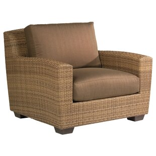 Saddleback Patio Chair with Cushions by Woodard
